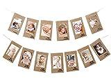 1st Baby Birthday Photo Banner from Newborn...