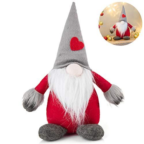 Yuciya Plüschtier, Weihnachtsplüsch-Gnom-Dekoration Gesichtslose Puppe Plüsch-Zwerg-Spielzeug-Hauptelfen-Tabellen-Verzierungs-Weihnachtsverzierungs-Geschenk