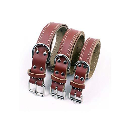 Pet Supplies - Collar de piel para perro pequeño y mediano, para mascotas de compañía, M-3.0 cm