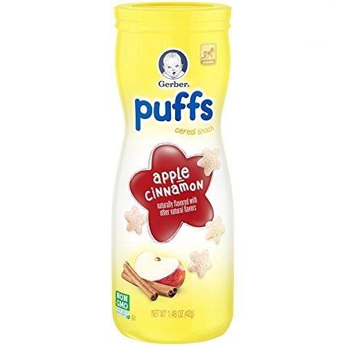 Gerber Graduate Puffs Apfel-zimt 40g (6 stück packung)