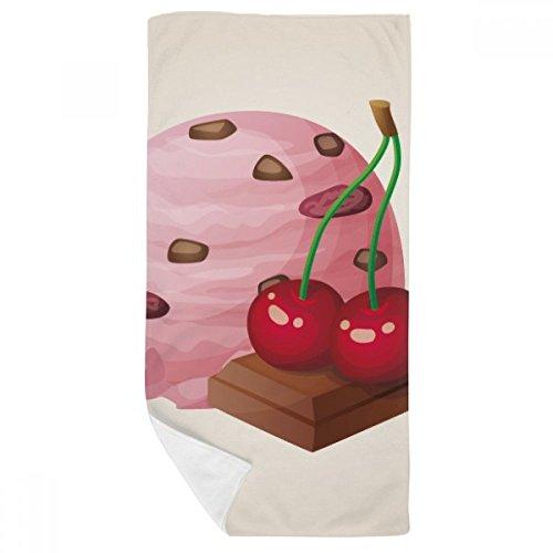 DIYthinker Chocolat Cerise Violet crème glacée Boule de Bain Serviette Douce Gant de Toilette Gant de Toilette 35X70Cm 35 x 70cm Multicolor