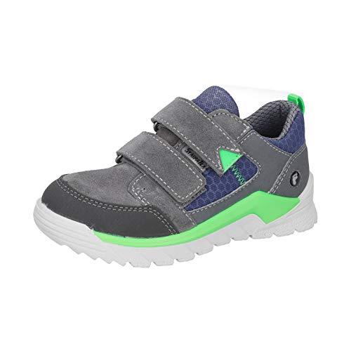 RICOSTA Kinder Sneaker MARV, Weite: Mittel (WMS),lose Einlage,Klettschuhe,Kinderschuhe,Halbschuhe,Graphit/Reef (453),31 EU / 12 Child UK