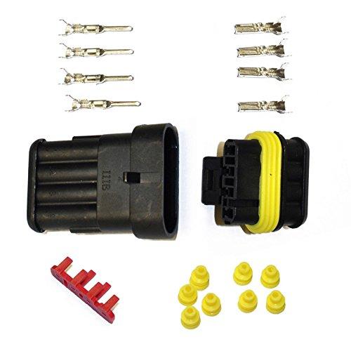 KFZ Ersatz Stecker – AMP Tyco Superseal 1.5 Kit 4-pin (SET) 282088-1, 282106-1