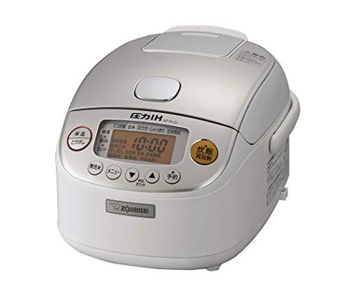 象印 炊飯器 3合 圧力IH式 極め炊き 黒まる厚釜 ホワイト NP-RL05-WA