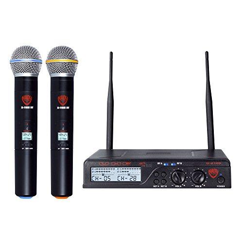Nady U-2100 Dual HT 200-Channel UHF Wireless Handheld Microphone System