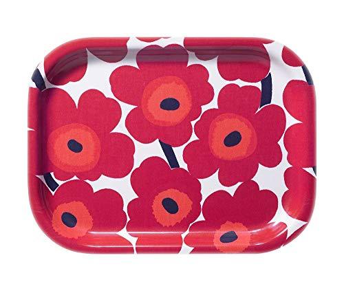Marimekko - Mini-Unikko - Tablett - Weiß/Rot - 27x20cm