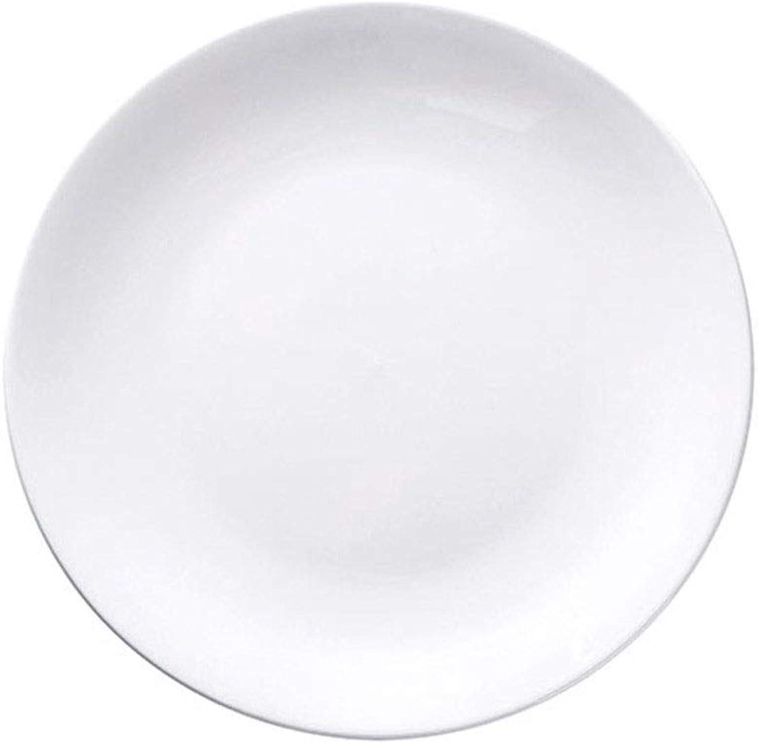 Plat inférieur en céramique blanche pure, grand bas, antidérapant, facile à nettoyer (Couleur   16 inch)