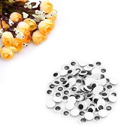 1Pack 100 San Jose Mall Pieces 6-20mm Wiggly Eyes Wobbly Selling rankings Googly Self-Adhesive