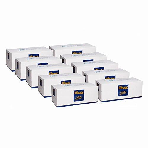 スマートマットライト 【ケース販売】 クリネックス ティシュー ウルトラ ファミリーサイズ 3枚重ね 420枚(140組) ×10箱入り