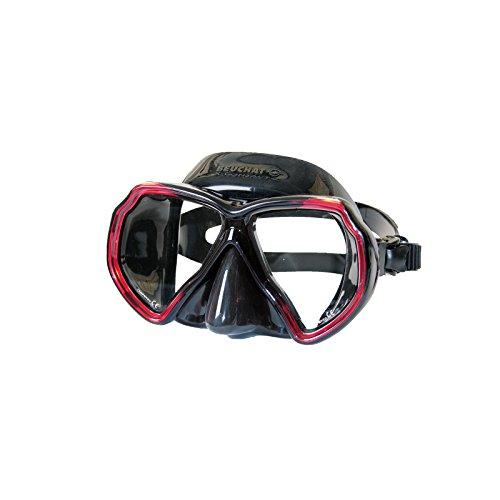Beuchat Tauchmaske X-Contact 2 schwarz/rot (optinonal: optische Gläser)