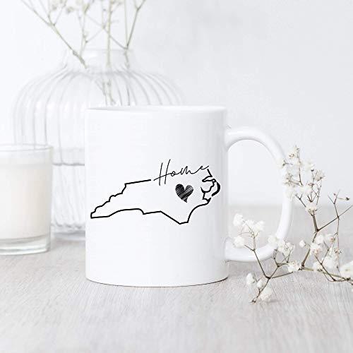 Taza del mapa de Carolina del Norte Taza de Carolina del Norte Taza del orgullo de Carolina del Norte Taza del estado de Carolina del Norte