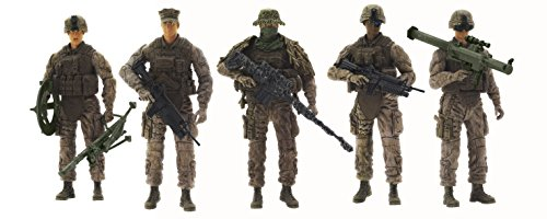 Elite Force Marine Recon Action Figures  5 Pack Military Toy Soldiers Playset | Realistic Gear and Accessories  Sunny Days Entertainment