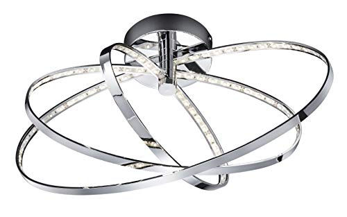 Reality Leuchten LED Deckenleuchte, EEK A+, chrom, inkl. 12W LED, Durchmesser: 44 cm R62703106