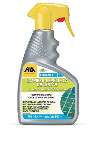 Fuganet, Limpiador para Juntas, Spray, Detergente Spray para Limpiar las Juntas del Pavimento, Baño, Ducha, Cocina, 750ml