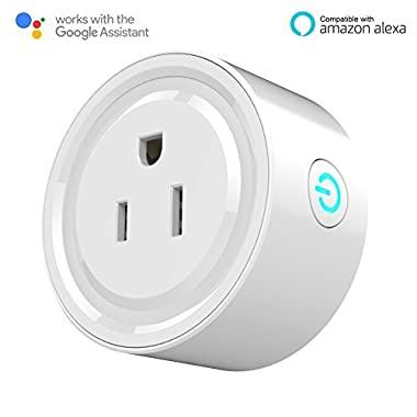 Smart Plug, Mini Outlet Compatible with Alexa Echo and Google Home Assistant, No Hub Required, WiFi Wireless Energy Save, Remote Control Devices from Anywhere, ETL Listed Timing Kuled K63(1pack)