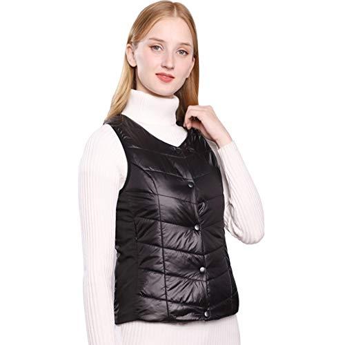 Hffan Elektrisch Beheizte Weste, USB-Lade Beheizte Warme Jacke Heizweste für Frauen, Beheizte Kleidung Einstellbare Temperatur für Körperwärmer im Winter Outdoor Camping