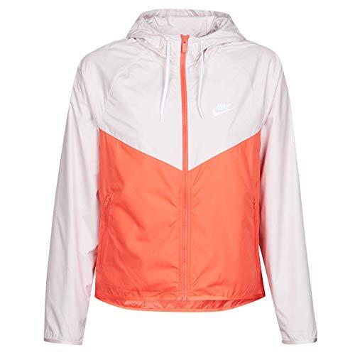 Nike Damen Sportswear Windrunner Jacke, Barely Rose/Magic Ember/White, S