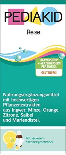 PEDIAKID® - REISE - 125 ml - Lindert Übelkeit und Erbrechen unterwegs - Glutenfrei - Vegan - Ab Aufnahme der Beikost - Leckerer Geschmack - ISO 22000:2005 zertifiziert …