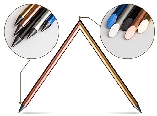 Designer Automatic Pencil, Everlasting Pencil, Metallic pencil, Ink-less Pen, In-erasable Pen, Creative Design (Pink)