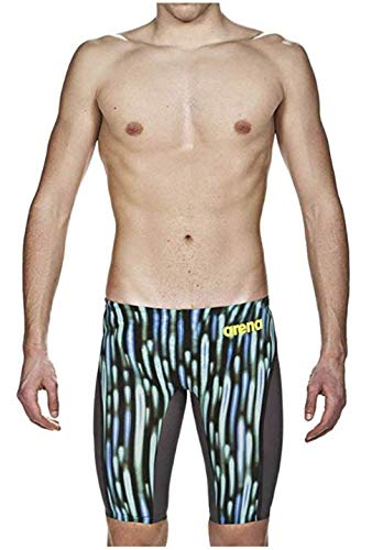 Bar Stools Men's Powerkin Carbon Ultra Limited Edition 2018 Swim Jammer (Color : Blue Drops/Fluo Yellow, Size : 28)