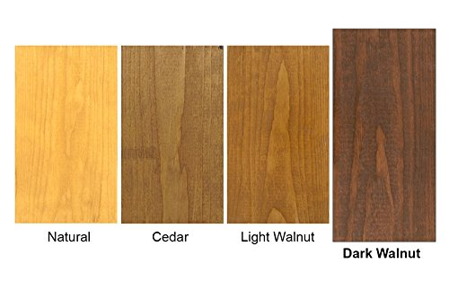 #1 Deck Premium Semi-Transparent Wood Stain for Decks, Fences, Siding - 1 Gallon (Dark Walnut)