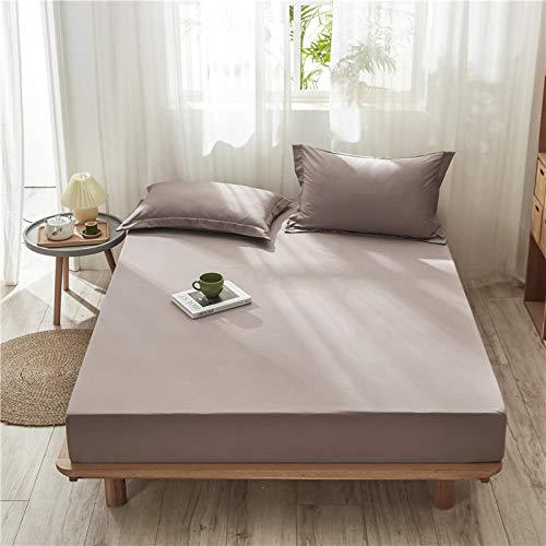 XGguo Matratzen-Bett-Schoner mit Spannumrandung | Auch für Boxspring-Betten und Wasser-Betten geeigne Einteiliges rutschfestes Festbetttuch-7_90cmx200cm