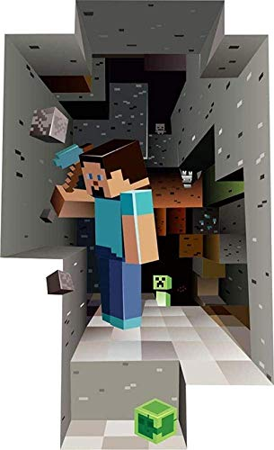 WARMBERL Wandaufkleber Minecrafts Steve Schlafzimmeraufkleber