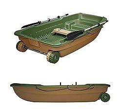BIC Sportyak 245 Explorer Angelboot Ruderboot Spiegelheck Außenborder Transportrollen