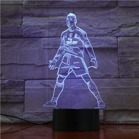 REMOTE 7 COLOUR REAL MADRID FOOTBALL ROLANDO  3D LED BATTERY USB NIGHT LIGHT