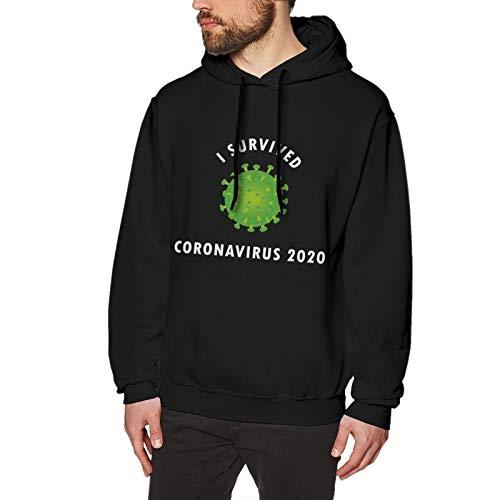 I Survived Cor&onaVirus 2020. Hoodie Sweatshirt fashion hoodies Christmas sweater sweater Black