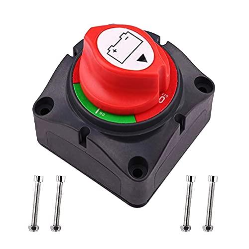 LONXAN Batterie Trennschalter 12 V-24 V, 150/300A Netzschalter mit Anti-Leckage-Knopf Wohnmobil für Yacht, Geländewagen, Familienauto,Ausrüstung