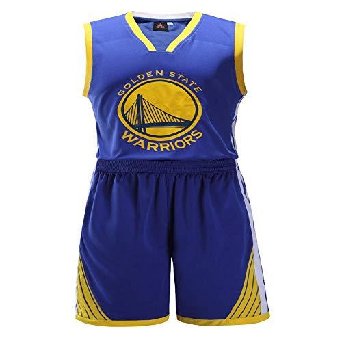 Trikot Herren NBA Trikot Golden State Warriors, Basketball Uniformen können gedruckt Werden Sommer atmungsaktives Sweatshirt Shirt Sommer Trikots Blue-L