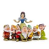 LBYLYH Zuhause Dekoration Statuen Nette 7 Zwerge Schneewittchen Prinzessin Miniatur Figur Kinder Geschenk Harz Handwerk Fee Garten Ornament