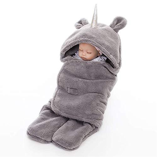 Babyslaapzak, herfst- en wintercartoon slaapzak, baby dikke bedrukte koraal fluwelen slaapzak