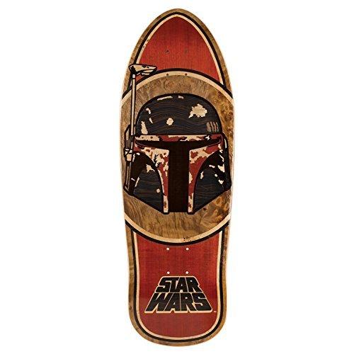 Santa Cruz Skateboards Star Wars Boba Fett Skateboard Deck Collectible Inlay - 10.3 x 31 by Santa Cruz Skateboards
