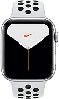 Apple Watch Nike Series 5 (GPS, 44mm) Smartwatch - UK/EU Model (Silver Aluminum Case with Pure Platinum/Black Nike Sport B...
