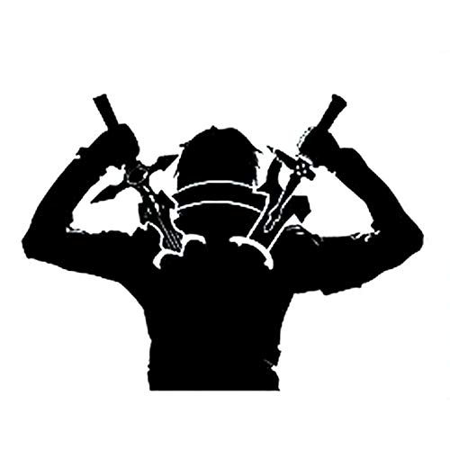 JKGHK 2 pegatinas de vinilo para coche, diseño de espadas de guerrero ninja de anime, 15,9 x 11,8 cm