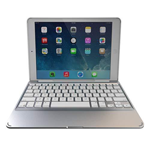 ZAGG Slim Book Ultrathin Case, Hinged with Detachable Backlit Bluetooth Keyboard for iPad Mini 2 / iPad mini 3 - White (Renewed)