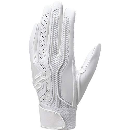 SSK(エスエスケイ) 野球 高校野球対応シングルバンドバッティング手袋(両手) プロエッジ 【2020年春夏モデル】 EBG3002W ホワイト(10) Lサイズ