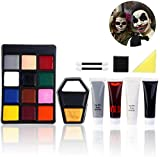 Unomor Face Paint Halloween Make Up Kits for Halloween Vampire, Zombie & Witch Makeup