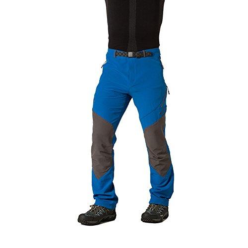 Izas Cade - Pantalón de montaña para Hombre, Color Azul Royal/Gris Oscuro, Talla M