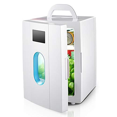 Mini Refrigerador De 10 litros, Refrigerador De 12 Voltios para El Automóvil, Mini-congelador para Acampar En El Dormitorio De La Casa Que Ahorra Energía, Refrigeración/Calefacción, Blanco
