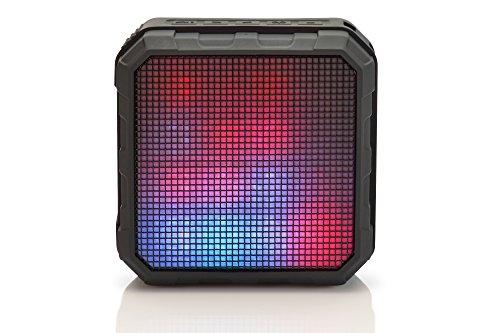 ednet Spectro LED Bluetooth Lautsprecher mit Lichteffekten, BT 4.0, NFC, Spritzwasser geschützt (IPX4), 2.200 mAh, schwarz