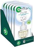 Airwick Ricariche per Diffusore di Oli Essenziali Elettrico, Confezione da 6 Ricariche, fragranza Pure Soffice Cotone