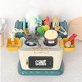 Lihgfw Kinderküche Spielzeug Sets, Simulation Küchenspielwaren, Kinderrollenspiele, Küchenzubehör Spielzeug, Spaßpädagogikspielzeug, Kindergeschenke (Color : Blau)