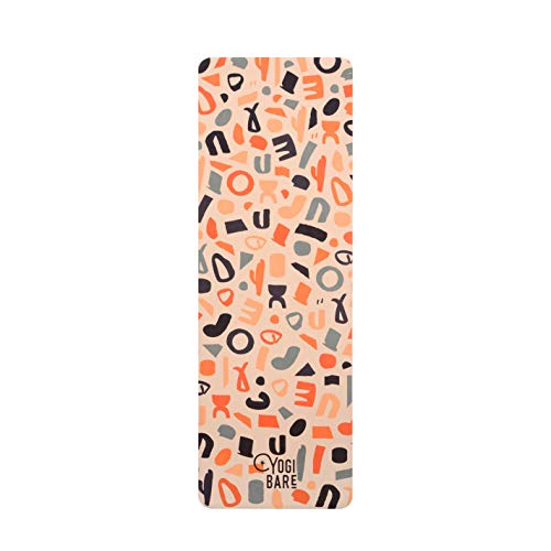 Yogi Bare Teddy Yoga Mat for Hot Yoga - Fitness & Exercise Mat for Travel with Microfibre Towel...