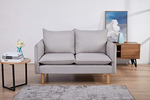 Amazon Marke - Movian Keitele - 2-Sitzer-Sofa, 130 x 82 x 84, Hellgrau