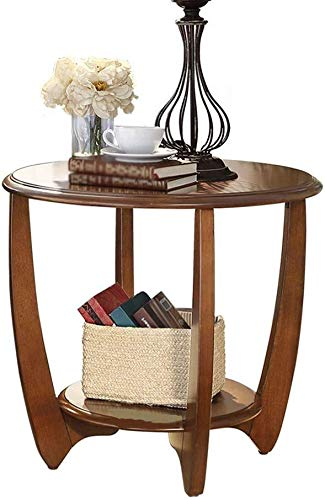 Draagbare kleine salontafel in Amerikaanse stijl massief houten sofa kant een paar hoeken een paar kleine balkon ronde tafel ronde tafel met een minimalistische bijzettafel kleine salontafel