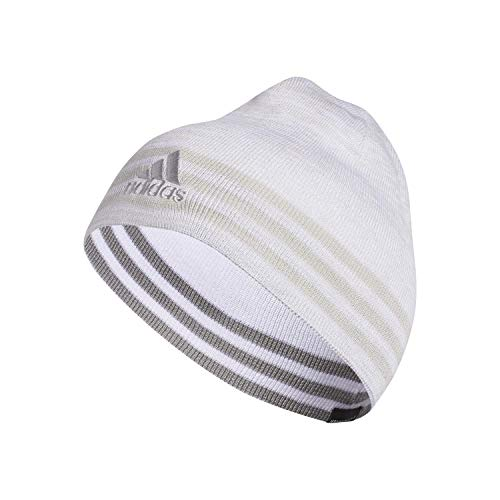 adidas Men's Eclipse Reversible Beanie, White/Clear Grey/Light Onix/White - Clear Grey Marl, ONE SIZE
