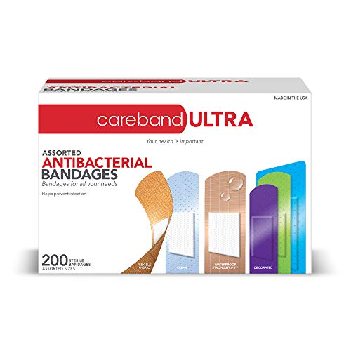 Careband Ultra 62947 Assorted Anti-Bacterial Bandages, Pack of 200 Now $4.99 (Was $13.20)